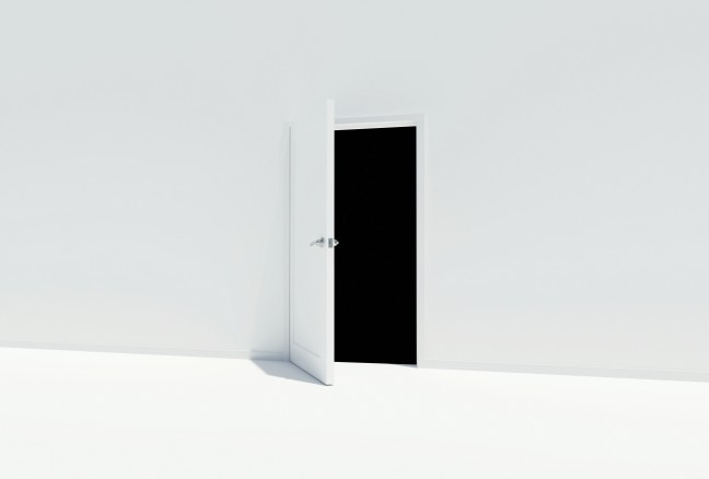 white-black-door-wall