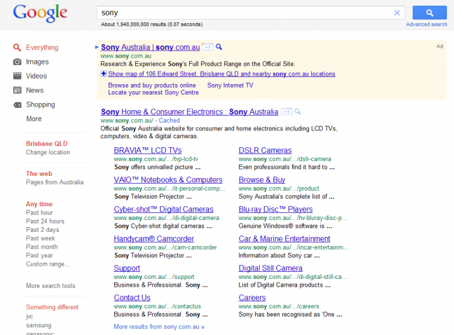 Sony Serps