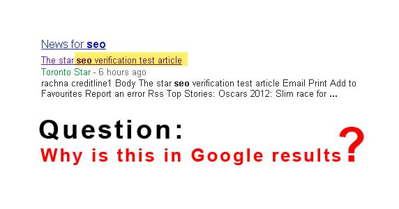Google News Result