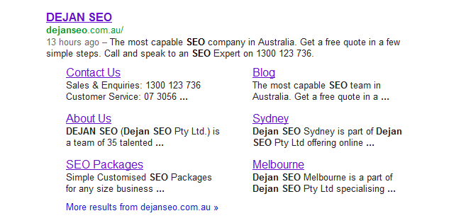 Branded SERP Snippet