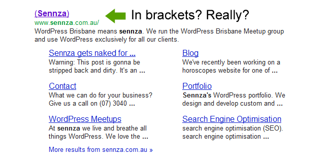 SERP title tag replacement