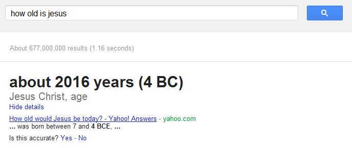 How old is Jesus?