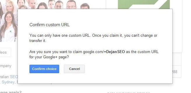 Confirming URL