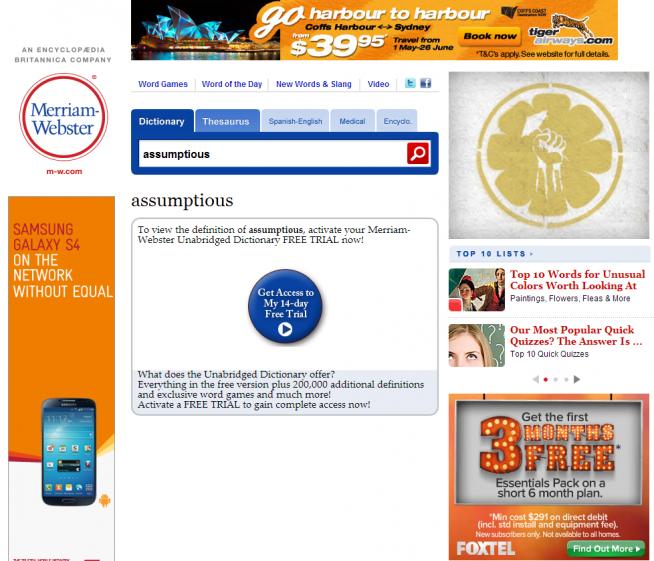 Spammy Screenshot