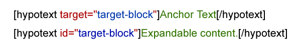 hypotext shortcode