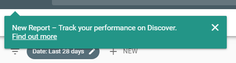 google discover message